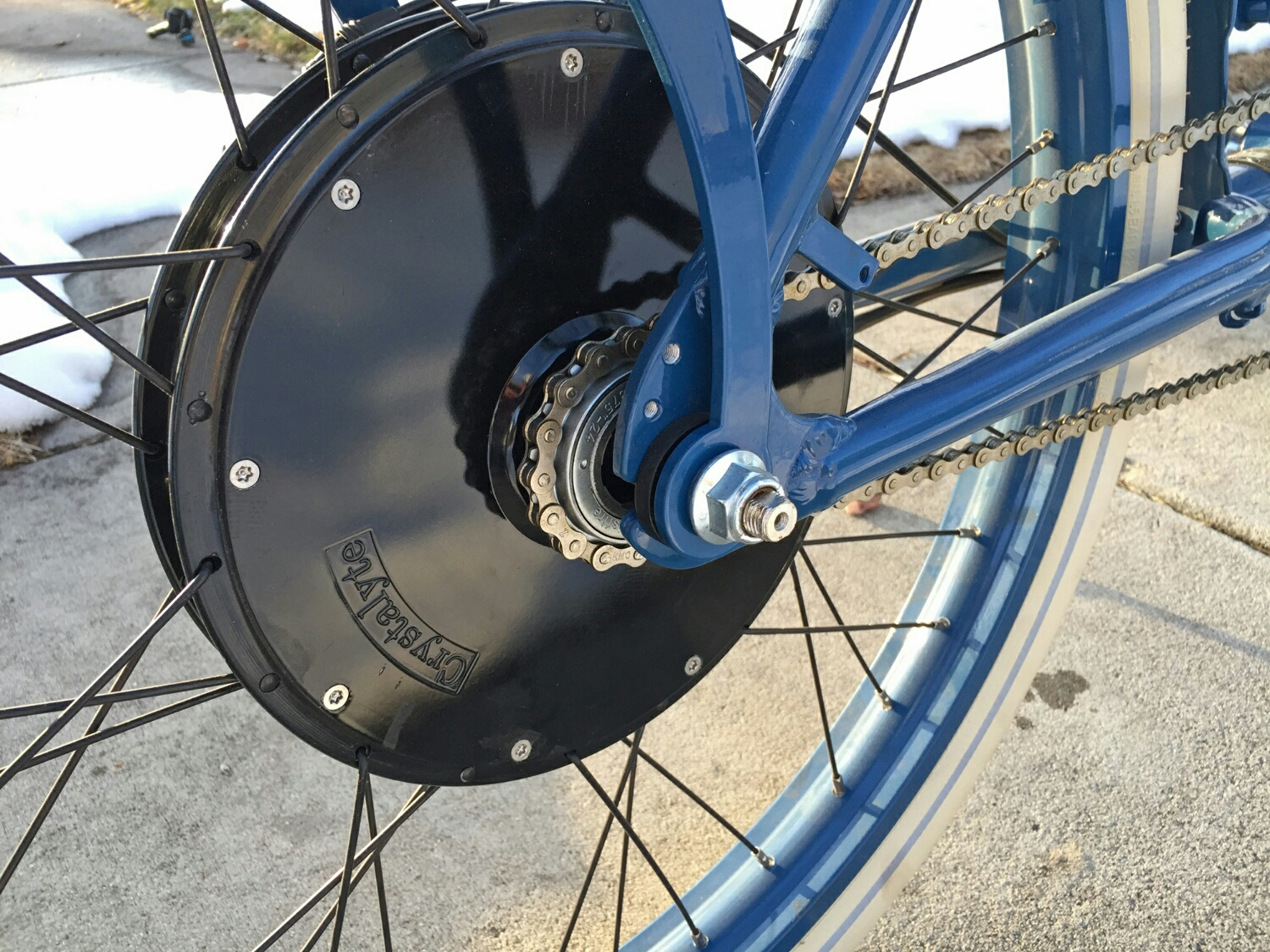 Crystalyte Hub Motor Kits power the bike using a hub motor built into the  bicycle wheel.